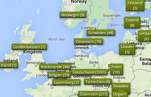 wohnmobilstellplätze deutschland karte 6136 Stellplätze auf Stellplatz.Info finden